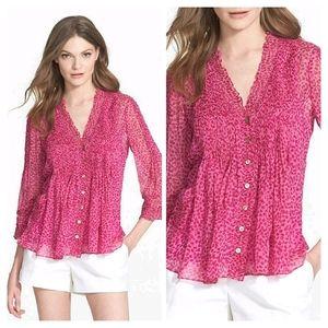 Diane Von Furstenberg Silk Layla Pink Top 4